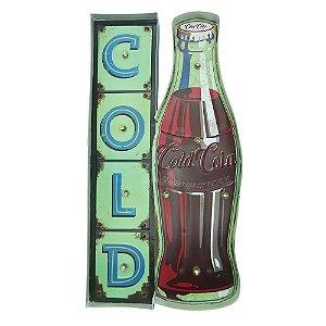 "Placa ""Cold Drink"" com Luzes de LED MT-02"
