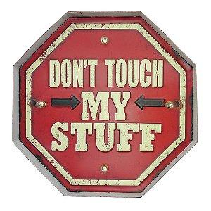 """Placa """"Dont Touch"""" com Luzes de LED MT-03"""