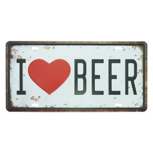 "Placa ""I Love Beer"" MT-69"