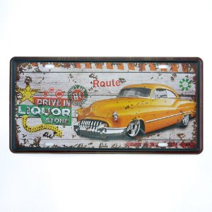 Placa Yellow Car MT-75
