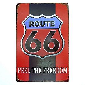 "Placa ""Feel The Freedom"" Vermelha MT-86"
