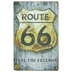 "Placa ""Feel The Freedom"" Grande Cinza MT-95"