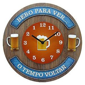 "Relógio ""Bebo para ver"" RE-60"