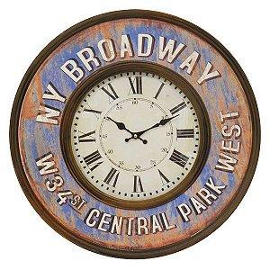 Relógio de Parede NY Broadway RG-04