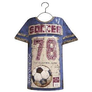 Quadro Camiseta Soccer 78 em Metal RT-20