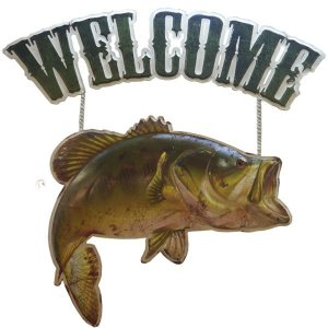 Enfeite de Metal Peixe Welcome RT-36