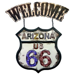 Placa Welcome Arizona Route 66 RT-47