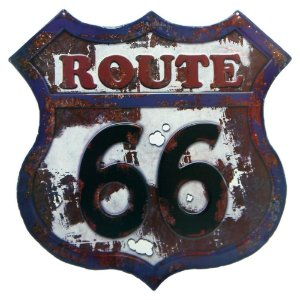 Placa Antique Route 66 RT-57