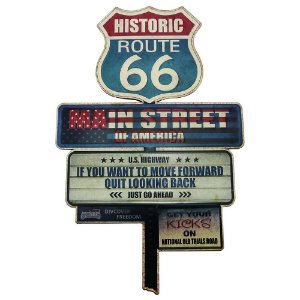 Placa Decorativa Setas Route 66 RT-75
