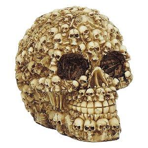 Decorativo Caveira com Cranios em Resina SV-05