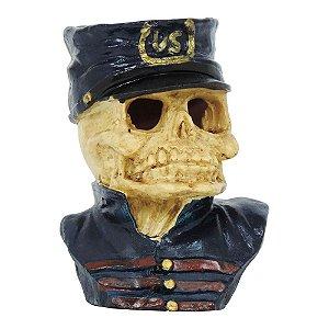 Busto Caveira Police em Resina SV-17