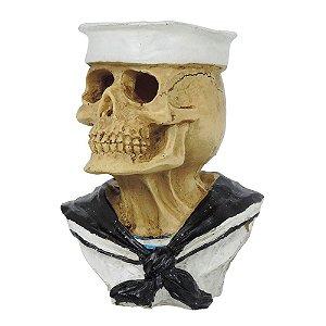 Busto Caveira Marinheiro em Resina SV-18