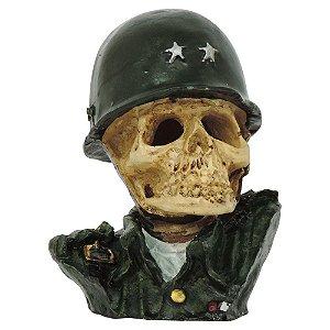 Busto Caveira Militar Exército em Resina SV-19