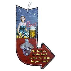 Abridor de Garrafa de Madeira Seta Best Beer SV-28 C