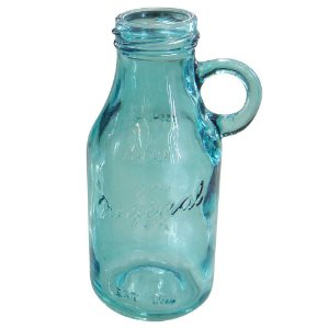 Vaso de Vidro Azul estilo Garrafa SV-74 C