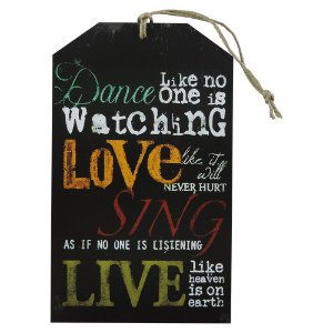 "Tag ""Dance, Love, Sing, Live"" TG-02"