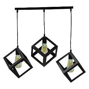 Luminária Tripla Cubos WA-06