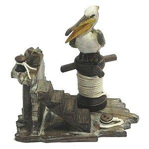 Decorativo Pelicano e Coelho WG-32