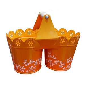 Cachepot Decorativo Colors Laranja WW-49 C