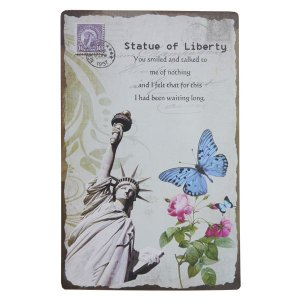 Placa Decorativa Statue of Liberty WW-84