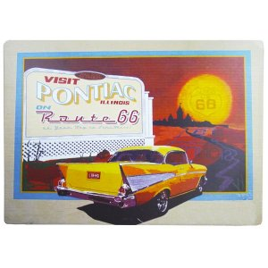 Placa Decorativa Pontiac Route 66 WW-96