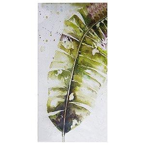 Quadro com Pintura em Tela Folha de Bananeira YA-67