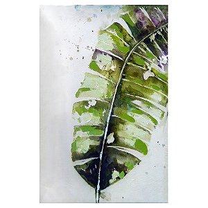 Quadro Grande com Pintura em Tela Folha de Bananeira YA-69