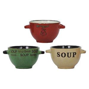 Jogo c/3 Bowls Soup Break YB-06