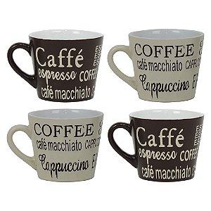 Jogo com 4 Xícaras Coffee YB-10