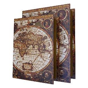 Jogo c/2 Porta Objetos Mapa Mundi YB-37