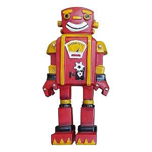 Enfeite Robô Vermelho YB-43