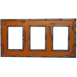 Porta Retrato Triplo Laranja YW-18 B