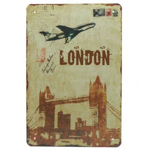 Placa de Metal London YW-53
