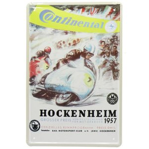 Placa de Metal Continental Hockenheim YW-62