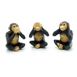 Jogo c/3 Enfeites Macacos Grandes AX-95