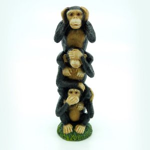Enfeite Macacos Vertical Grande AX-98