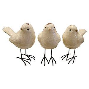 Jogo c/3 Pássaros Brancos FG-12