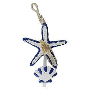 Cabideiro Estrela Azul Escuro YD-44 A