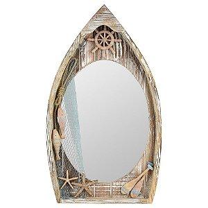 Espelho Barco Marrom CY-08