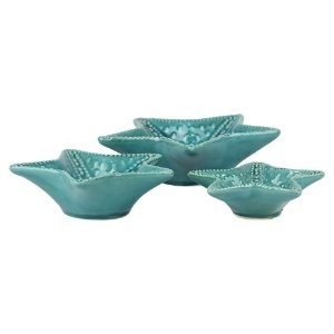 Jogo c/3 Estrelas do Mar Azuis em Cerâmica YD-76 A