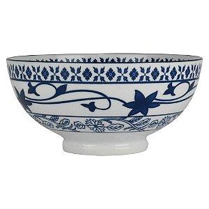 Bowl Grande Arabesco Florido com Interior Cinza YB-14
