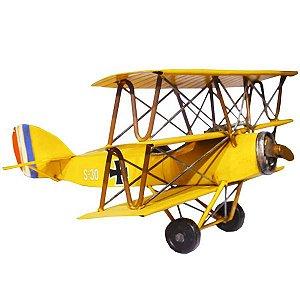 Avião Amarelo em Metal CM-25