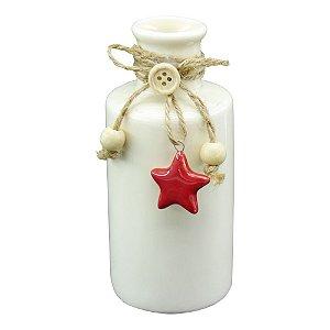 Vaso Garrafa Branco em Cerâmica DI-29 A