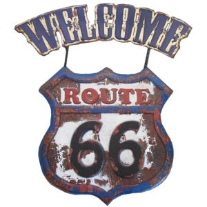 Placa Welcome Route 66 RT-38