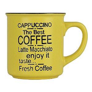 Xícara Coffee Amarela YB-09 E