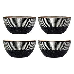 Jogo c/4 Bowls Striped Sortidos YG-31