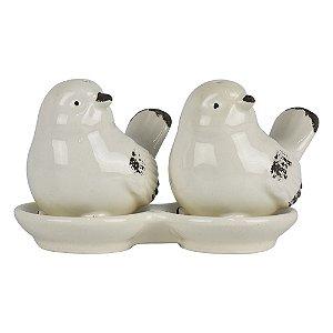 Enfeite 2 Pássaros Brancos YG-54