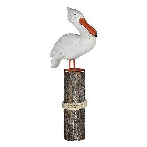 Enfeite Pelicano Branco YH-38