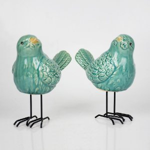 Casal de Pássaros em Cerâmica YJ-11