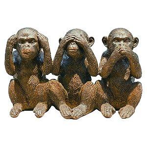 Enfeite Macacos Sabios Rustico YJ-54